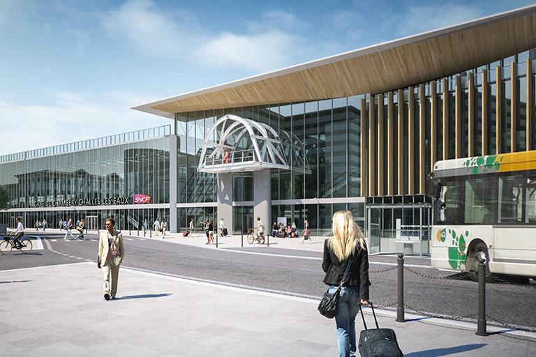 Transfert privé depuis les gares de Moûtiers, Albertville, Chambéry et Lyon.